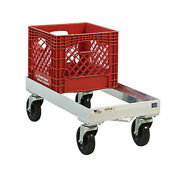 New Age 1620 Open Frame Milk Crate Dolly W/ 8 Crate Capacity