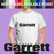 Kids Tee Childrenand039s T-shirt Boosted By Garrett Turbo Spool Turbocharger Gtx Cars