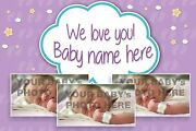 Personalised Baby 01 Girl Girls Banner Pvc Banners Outdoor Indoor Printed