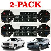 2 Pack Replacement Climate Control Button Stickers For 2007-2013 Chevrolet Gmc