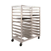 New Age 97690 Mobile Open Sides Universal Tray Rack W/ 20 Tray Capacity