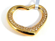 And Co 18k Yellow Gold And Diamond Heart Pendant - N6360