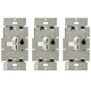 Dimmer Switch For Dimmable Led, Halogen And Incandescent Bulbs In White 3-pack