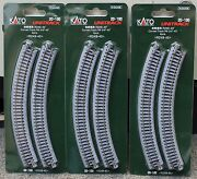 Lot Of 3 - N Scale Kato Unitrack 20-100 Curved Track R249-45 4 Pieces Per Pack