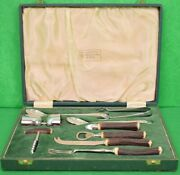 Abercrombie And Fitch Stag Handle Made In England 9 Pc Cocktail Barware Boxed Set