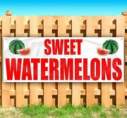 Sweet Watermelons Advertising Vinyl Banner Flag Sign Large Sizes Farm Produce