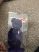 Princess Bear Ty 1st Edition Pvc Diana Beanie Baby Made In China, Mint 1997