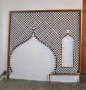 Victorian Large Entryway Cherry Ball And Stick Fretwork 95 X 98