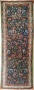 Genuine Hand Knotted Authentic Antique Garden Runner Rug 3and0394 X 9and0396