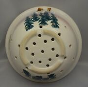 2000 Neher Pottery In Motion Pine Tree Moon Colander Strainer
