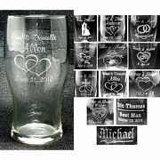 Case Of 24 - Personalized Tumbler Glasses Custom Wedding Party Anniversary Gift