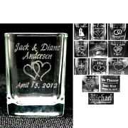 Case Of 72 - Personalized Square Shot Glasses Custom Wedding Party Gifts