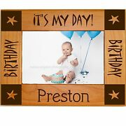 Personalized Wood Picture Frames 4x6 5x7 8x10 Custom - Newborn Baby Gifts