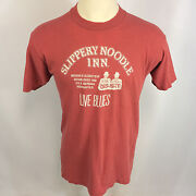 Vtg 80s 90s Bar Saloon Beer Shirt Sippery Noodle Inn Blues Jazz Music T Shirt
