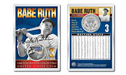 Babe Ruth - Military Legends Official Jfk Half Dollar Us Coin In Premium Holder
