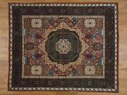 8and0391x10and039 Peshawar With Mamluk Design Handknotted Pure Wool Oriental Rug G36935