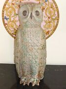 LISTED ARTIST PAUL BELLARDO IMPRESSIVE ORIGINAL ARTWORK POTTERY OWL SCULPTURE