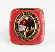Jay Strongwater Lauder Compact Mirror Fuchsia With Picture Frame New
