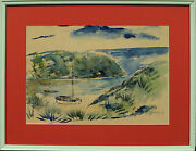 Bermuda Cove Framed Watercolour By Alfred Birdsey