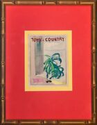 Town And Country Mag Palm Tree Outside Cottage Window Watercolour
