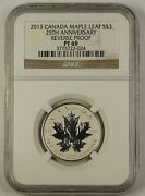 2013 Canada Maple Leaf Silver 3 Coin 25th Anniversary Ngc Pf-69 Reverse Proof