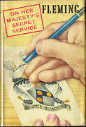 On Her Majestyand039s Secret Service By Ian Fleming 2nd Uk Edition