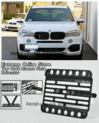 14-up For Bmw X5 No Pdc Front Tow Hook License Plate Relocator Bracket Mount F15