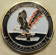 Patrol Sq 30 Vp-30 Proand039s Nest Chiefand039s Mess Navy Challenge Coin