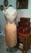 Ceil Chapman Original Late 1950s Cocktail Dress Size 4 Final Time Offered Here