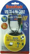 Sonitek Black 6ft Usb To 4 Pin Cable Usb-to+4+pin