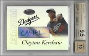 2007 Clayton Kershaw Bowmanand039s Best Prospects Auto Rc... Graded Bgs 9.5 Gem Mint