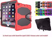 Shockproof Hard Rubber Impact Case Cover With Stand For Ipad 5 2017 5th Gen 9.7