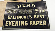 Read The Star Baltimoreand039s Best Evening Paper Embossed Tin Sign Newspaper Vintage
