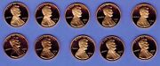 1990 1991 1992 1993 1994 1995 1996 1997 98 99 S Proof Lincoln Pennies 10 Coins