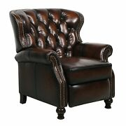 New Barcalounger Presidential Ii Genuine Leather Recliner Chair - Stetson Coffee
