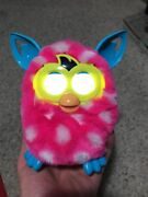 Furby Boom - Pink With White Polka Dots And Aqua Blue Ears And Feet
