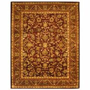 Hand-tufted Antiquity Wine/gold Wool Area Rug 12' X 18'