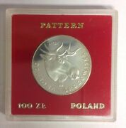 Poland 100 Zlotych Coin Proof Silver Moose 1978 Pr 327 Proba/pattern