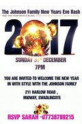 Personalised Adult New Years Eve House Party Invites Inc Envelopes X67