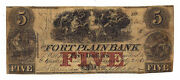1862 The Fort Plain Bank, Ny- Five Dollar Contemporary Counterfeit Note No.2420