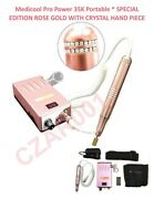 Rose Goldmedicool Pro Power 35k Portable Manicure And Pedicure Filing System