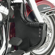 Hopnel Black Pac-a-derms Front Engine Guard Covers For Harley Flh W/ Lindby Bar