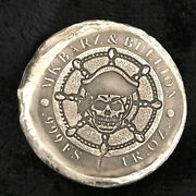 1 Tr/oz Mk Barz Double Sided Pirate Captain Coin Round .999 Fs