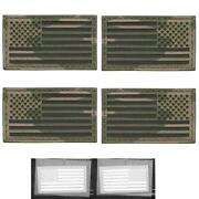 Set Of 4 Usa Flags Forward Reversed Infrared Multicam 3 Laser Fastener Patches