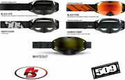 New 2019 509 Revolver Snowmobile Motorcycle Goggles Black Ops/whiteout