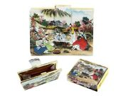 Small Wallet Purse For Cards Coins - Korean Traditional Folk Painting Gift
