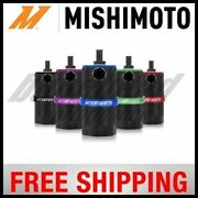 Mishimoto Performance Baffled Aluminum Red Oil Catch Can Resevoir Tank