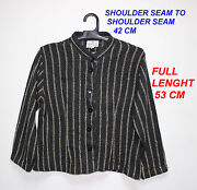 The Masai Clothing Co Ladies Woman Black W Line Jacket Long Sleeve Size S 53 H