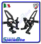Cnc Racing Adjustable Rear Sets Rps Black For Ducati 1299 Panigale / S 2015