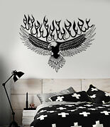 Vinyl Wall Decal American Bald Eagle Languages Of Flame Stickers 1893ig